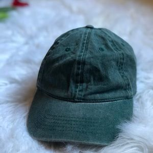 Cute Forever 21 Distressed Forest Green Dad Hat